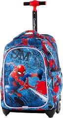 Ученическа раница с колелца - Jack: Spiderman Denim - раница