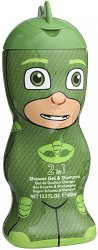 """PJ Masks Shower Gel & Shampoo - Gekko - Детски душ гел и шампоан 2 в 1 от серията """"PJ Masks"""" - пъзел"""