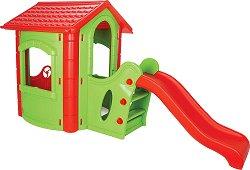 Пързалка с къща - играчка