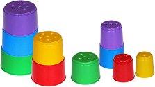 Кула от чаши - Играчка за сортиране - творчески комплект