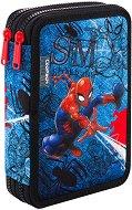 Несесер с ученически пособия - Jumper XL: Spiderman Denim - раница