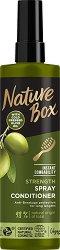 Nature Box Olive Oil Spray Conditioner - Спрей балсам за дълга коса с масло от маслина - очна линия