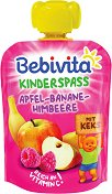 Bebivita - Забавна плодова закуска с ябълка, банан, малина и бисквити - продукт