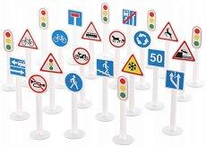 Пътни знаци - Детски образователен комплект - играчка