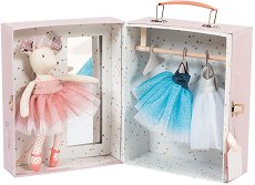 Балерина мишле с гардероб и дрешки - Детски комплект за игра -