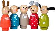Дървени кукли - Голямо семейство -