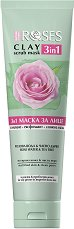 Nature of Agiva Roses Clay 3 in 1 Scrub Mask - маска