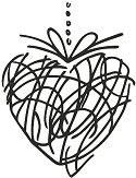 Гумен печат - Сърце - Размери 5 x 6.5 cm