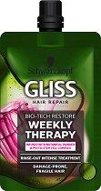Gliss Bio-Tech Restore Weekly Therapy - Възстановяваща терапия за крехка и склонна към увреждане коса - продукт