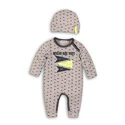 Бебешки комплект - Гащеризон и шапка -