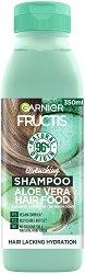 Garnier Fructis Quenching Aloe Vera Hair Food Shampoo - Хидратиращ шампоан за нормална до суха коса с алое вера - шампоан