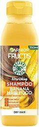 Garnier Fructis Nourishing Banana Hair Food Shampoo - Подхранващ шампоан за суха коса с екстракт от банан - крем
