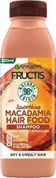 Garnier Fructis Smoothing Macadamia Hair Food Shampoo - Изглаждащ шампоан с макадамия за суха и непокорна коса - душ гел