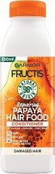 Garnier Fructis Repairing Papaya Hair Food Conditioner - Възстановяващ балсам за увредена коса с папая -