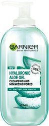 Garnier Hyaluronic Aloe Cleansing & Minimizing Pores Gel - Почистващ и хидратиращ гел за всеки тип кожа - сапун