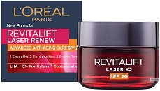 """L'Oreal Revitalift Laser X3 - SPF 20 - Дневен крем против бръчки от серията """"Revitalift Laser"""" - продукт"""