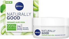Nivea Naturally Good Organic Aloe Vera Radiance Day Care - Освежаващ дневен крем за лице с био алое вера - крем