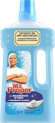 Универсален почистващ препарат със сода бикарбонат - Mr. Proper - масло