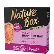 Nature Box Almond Oil Shampoo Bar - Твърд шампоан за обем с масло от бадем - душ гел