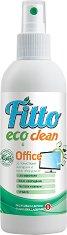 Почистващ препарат с растителни съставки за екрани и офис оборудване - Fitto Eco Clean - Подходящ за детски стаи и хора с алергии - разфасовка от 0.200 l -
