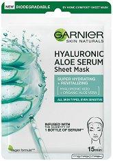 Garnier Hyaluronic Aloe Tissue Mask - Хидратираща хартиена маска за лице - продукт