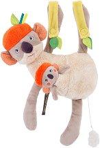 """Коалата Коко с малкото си - Детска музикална играчка от серията """"Dans la jungle"""" -"""