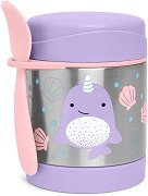 """Термоконтейнер за храна - Нарвал 325 ml - За бебета над 12 месеца от серията """"Zoo"""" -"""