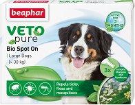 Beaphar Veto Pure Bio Spot On Dog - Репелентни капки за кучета от големи породи - опаковка от 3 пипети x 2 ml - продукт