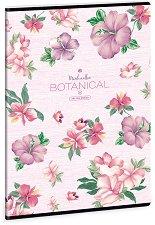 Ученическа тетрадка - Botanic Mallow Формат А4 с широки редове -