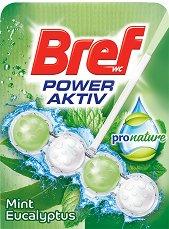 Тоалетно блокче - Bref Power Aktiv ProNature - С аромат на мента и евкалипт - опаковки от 1 и 3 броя - продукт