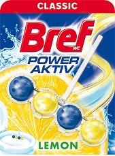 Тоалетно блокче - Bref Power Aktiv - С аромат на лимон - опаковки от 1 ÷ 4 броя - дезодорант