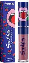 Flormar Cherry Silk Matte Liquid Lipstick by Yazbukey - Течно матово червило с аромат на череша - очна линия