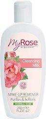 My Rose Cleansing Milk - Почистващо мляко за лице с екстракт от българска роза - шампоан