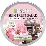Nature of Agiva Roses Fruit Salad Nourishing Sugar Scrub - Захарен скраб за лице и тяло с розова вода, йогурт и шоколад - серум