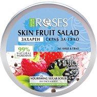 Nature of Agiva Roses Fruit Salad Nourishing Sugar Scrub - Захарен скраб за лице и тяло с горски плодове и черен пипер - продукт