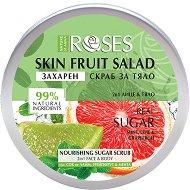 Nature of Agiva Roses Fruit Salad Nourishing Sugar Scrub - Захарен скраб за лице и тяло с лайм, грейпфрут и мента -
