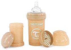 Бебешко шише за хранене с широко гърло - Twistshake 180 ml -