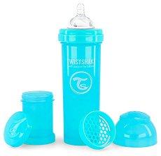 Бебешко шише за хранене с широко гърло - Twistshake 330 ml -
