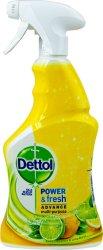 Антибактериален почистващ препарат с цитрусов аромат - Dettol Power & Fresh - Разфасовка от 0.500 l - крем