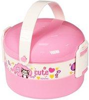 Кутия за храна - Мини Маус - Комплект с прибор за хранене -