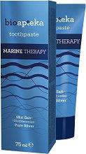 Bio Apteka Marine Therapy Toothpaste - Паста за зъби с колоидно сребро и морска сол - душ гел