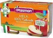 Plasmon - Пюре от ябълки - Опаковка от 2 x 104 g за бебета над 4 месеца - пюре