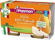Plasmon - Пюре от круши - Опаковка от 2 x 104 g за бебета над 4 месеца - пюре