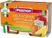 Plasmon - Пюре от ябълки и цитрусови плодове - продукт