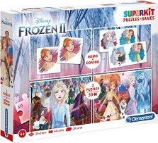 Замръзналото кралство - 4 в 1 - Комплект от 2 игри и 2 пъзела - продукт