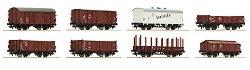 Товарни вагони използвани от Немските национални железници - ЖП модели - комплект от 8 броя -