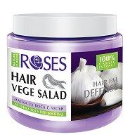 Nature of Agiva Roses Vege Salad Mask Hairfall Defense - Възстановяваща маска против косопад за тънка коса - маска