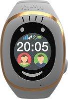 Детски GPS и GSM смарт часовник с тъч скрийн - MyKi Touch White - Работещ със SIM карти на всички български мобилни оператори