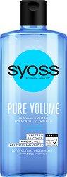 """Syoss Pure Volume Micellar Shampoo - Мицеларен шампоан за обем за нормална към тънка коса от серията """"Pure"""" -"""