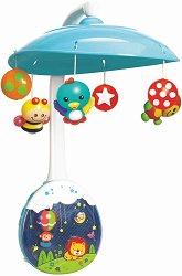 Музикален проектор-въртележка - Сладки животни - Играчка за бебешко креватче - играчка